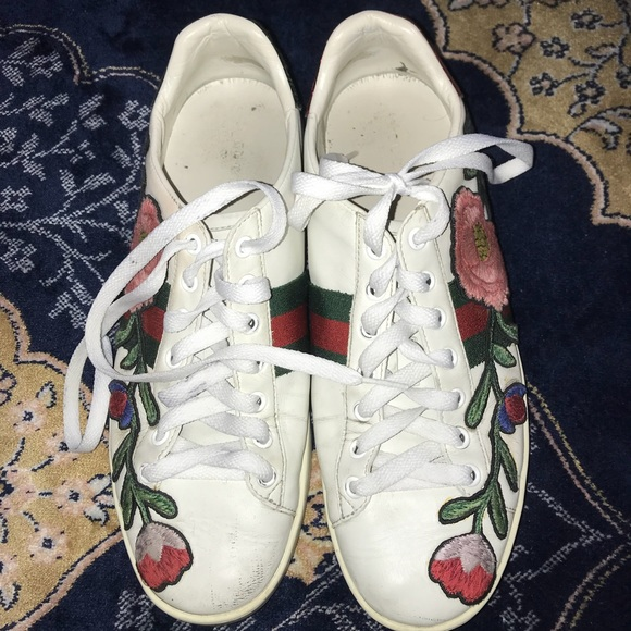 468d0c622 Gucci Shoes | New Ace Floralembroidered Lowtop Sneaker | Poshmark